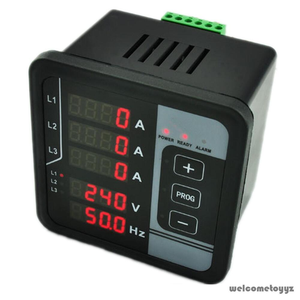 multi functions digital panel meter 3 phase ac voltage frequency current alarm ebay. Black Bedroom Furniture Sets. Home Design Ideas