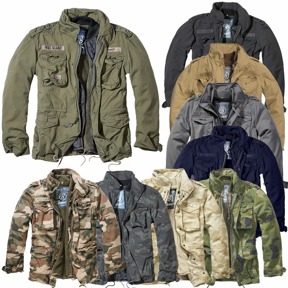 brandit m65 giant jacke s 5xl vintage feldjacke herren army outdoor parka futter ebay. Black Bedroom Furniture Sets. Home Design Ideas