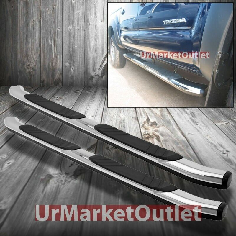 """4 Side Step For 2015 18 Chevy Colorado Gmc Canyon Crew: 80"""" ABS Chrome Side Step Running Board Nerf Bars For GMC"""