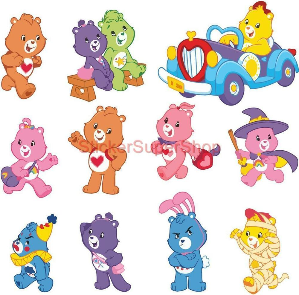 Care bears 11 strickers decal removable wall sticker home