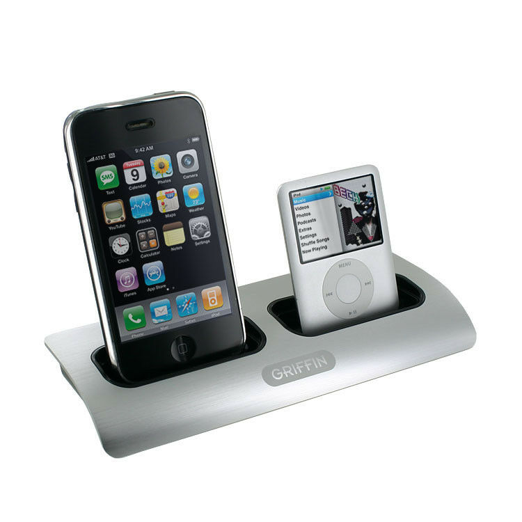 griifin power dock 2 charging station cradle dual position apple iphone ipod ebay. Black Bedroom Furniture Sets. Home Design Ideas