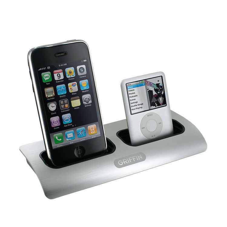 griifin power dock 2 charging station cradle dual position. Black Bedroom Furniture Sets. Home Design Ideas