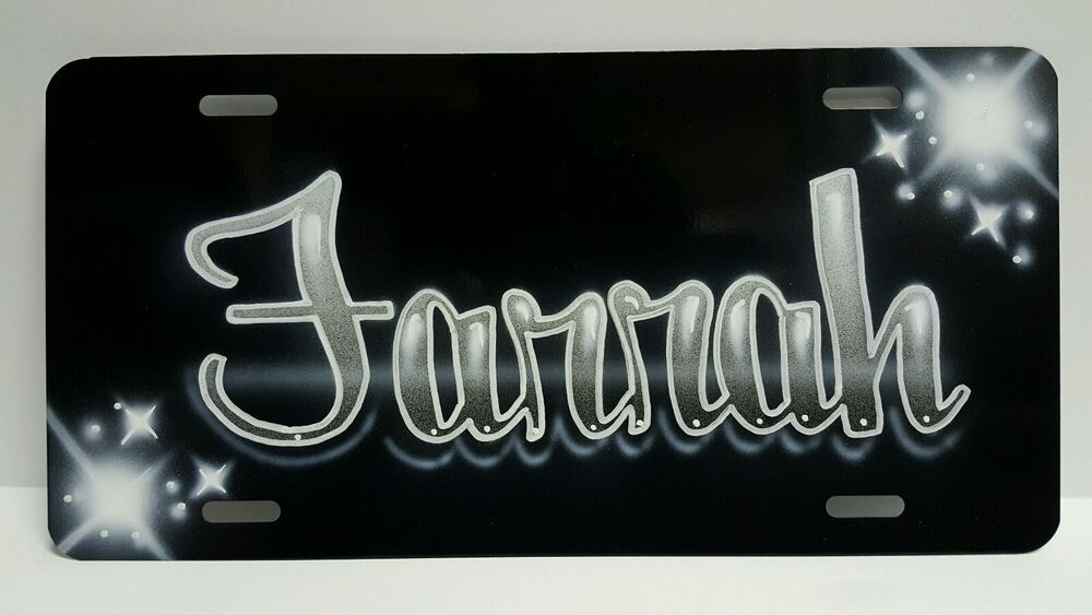 Airbrush Custom License Plate Car Tag Personalized w Your