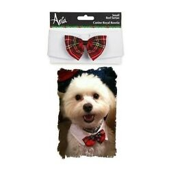 Canine Royale Christmas Yuletide Tartan Male Polyester Dog Bowtie By Aria