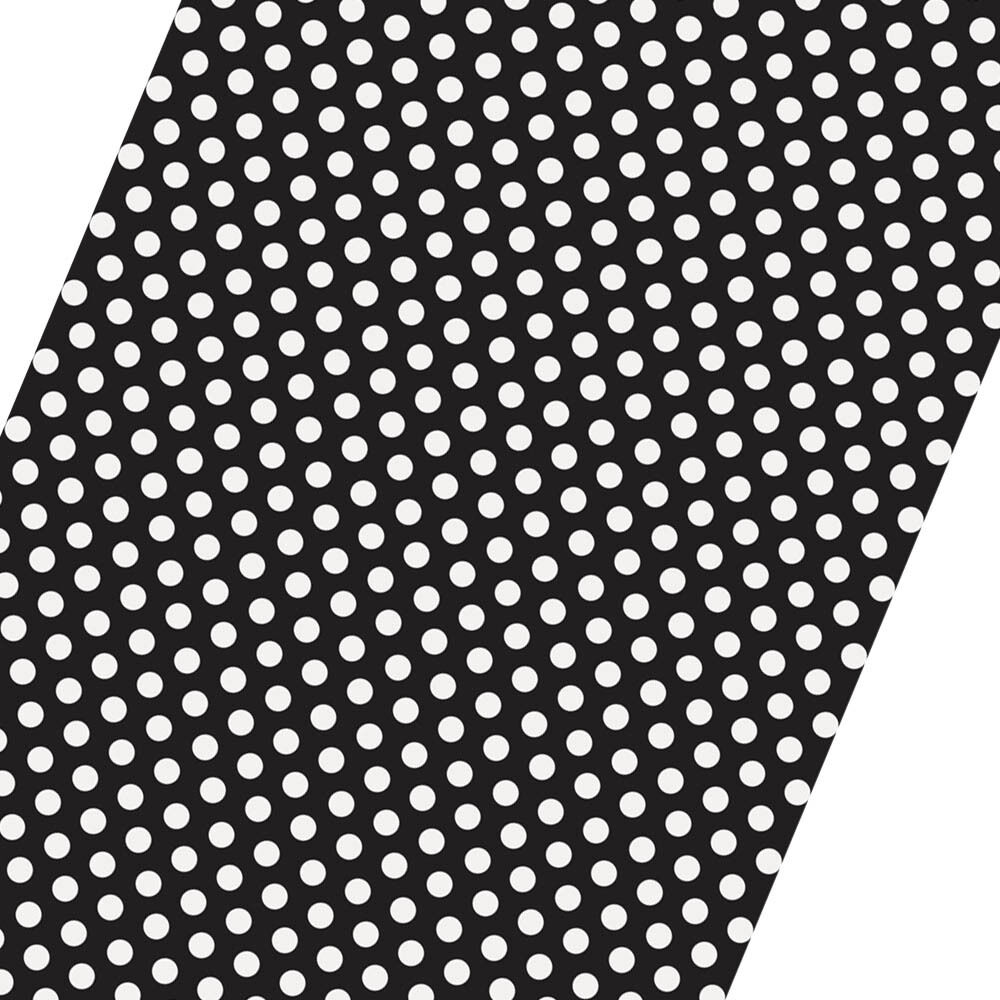 5ft roll black white polka dot spot style party gift wrap. Black Bedroom Furniture Sets. Home Design Ideas