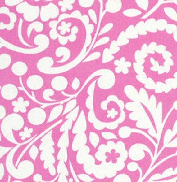 dena designs tea garden home decorator sateen silhouette fabric hddf05 fuchsia ebay