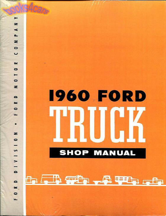 shop manual ford truck service repair 1960 book ebay. Black Bedroom Furniture Sets. Home Design Ideas