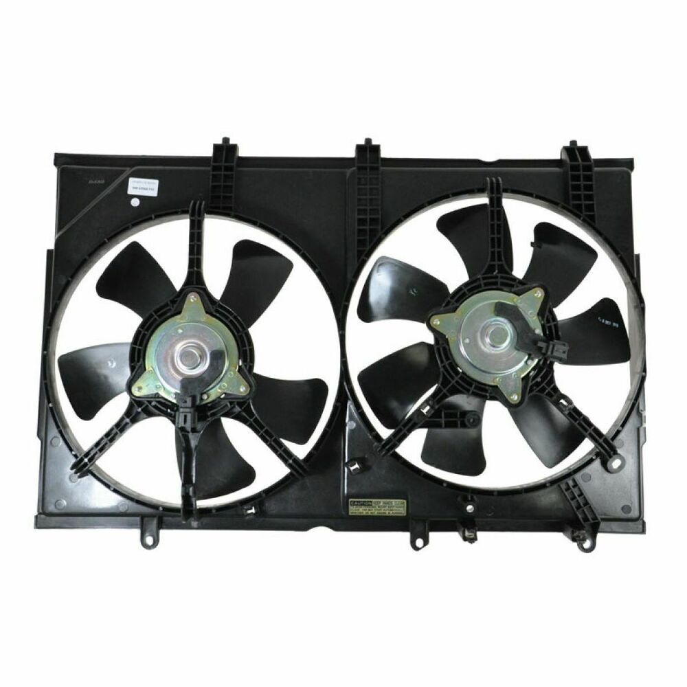Dual Radiator Cooling Fan Assembly L4 For 03 06 Mitsubishi