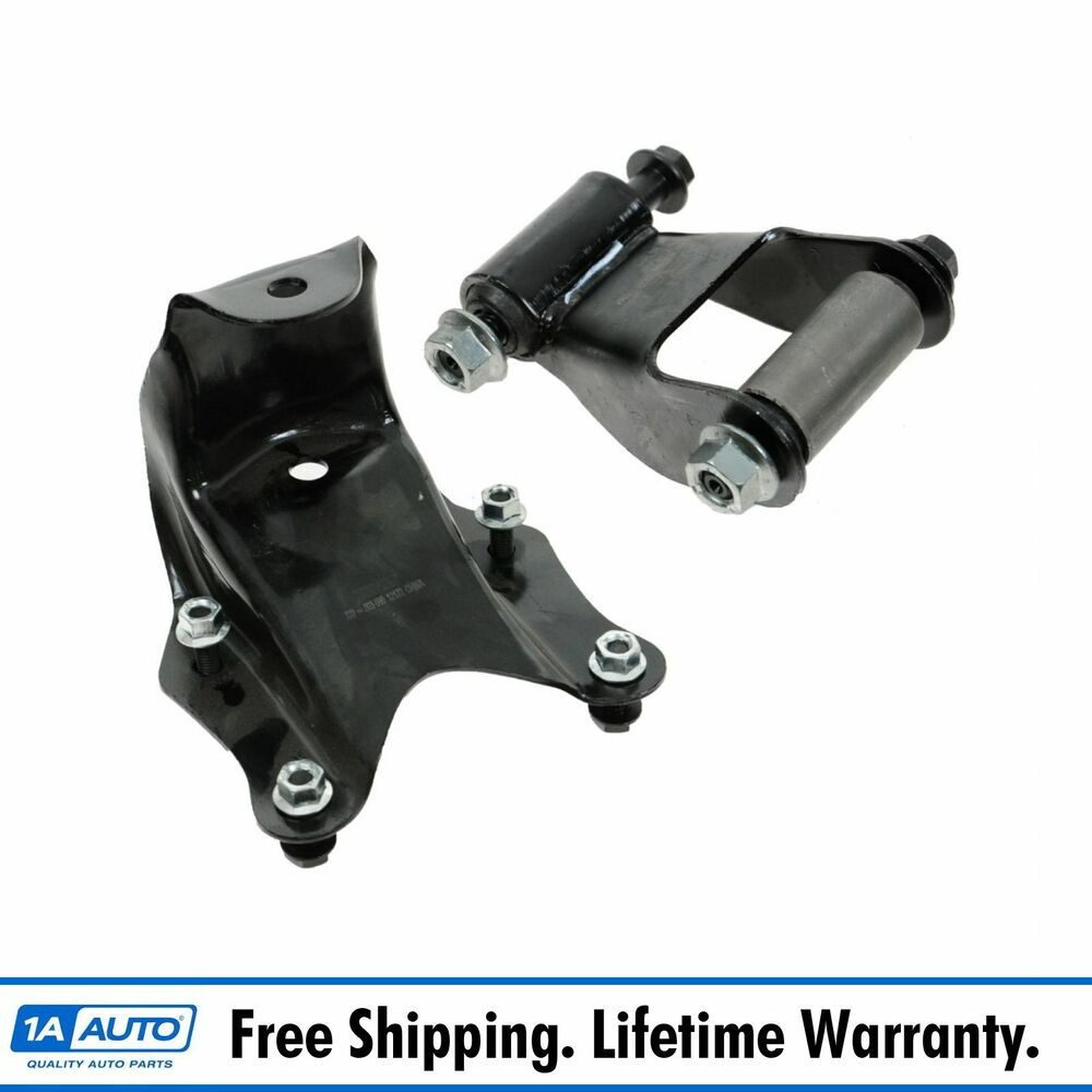 Rear Leaf Spring Shackle  U0026 Bracket Repair Kit Set For Ford