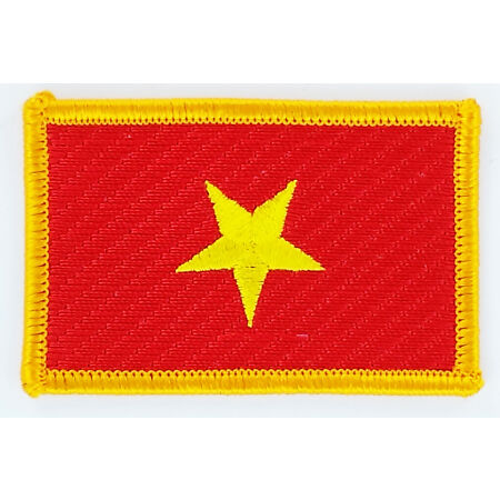 img-PATCH ECUSSON BRODE DRAPEAU VIETNAM INSIGNE THERMOCOLLANT NEUF FLAG PATCHE