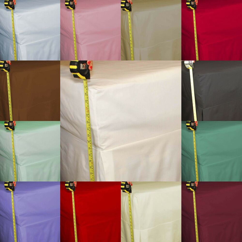 Percale Fitted Valance Sheet 180 Thread Count 26 Quot Extra