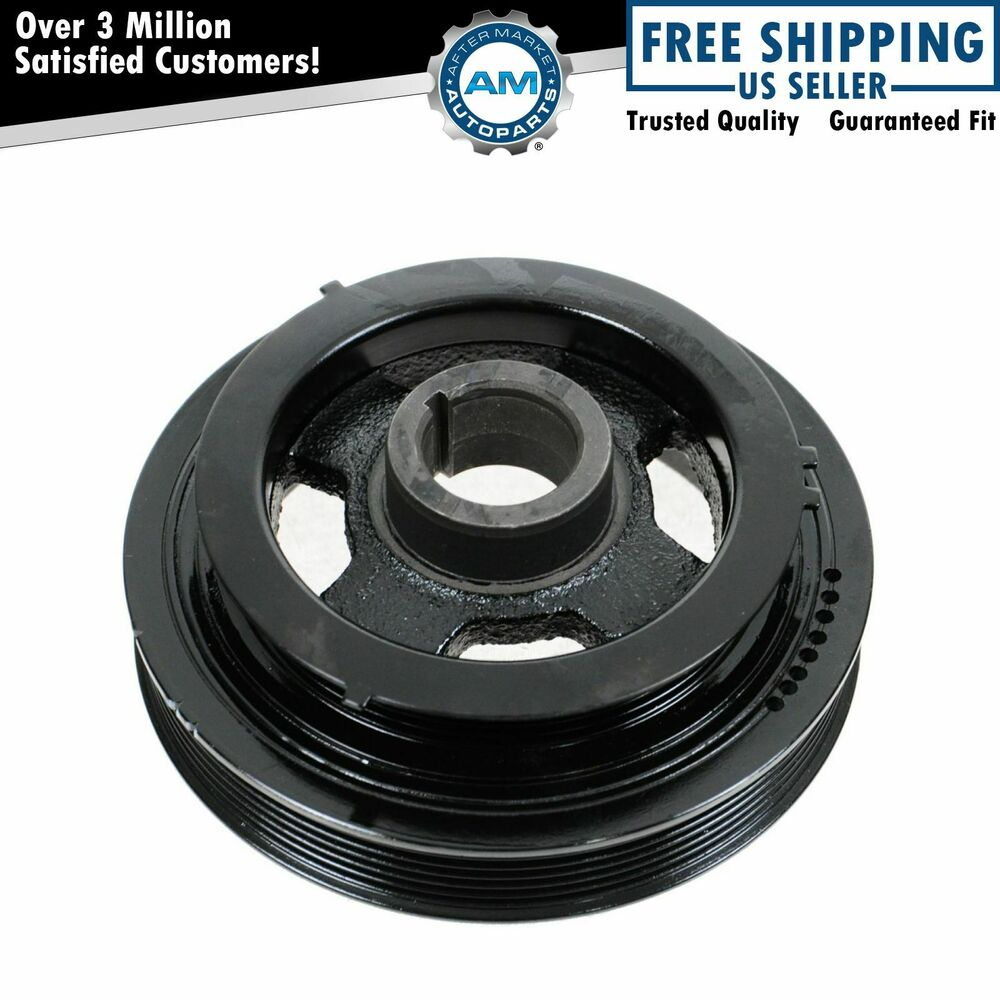 Harmonic Balancer Crankshaft Belt Drive Pulley For 95 01