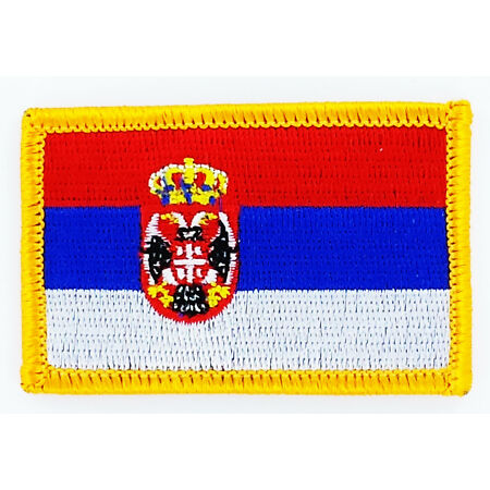 img-PATCH ECUSSON BRODE DRAPEAU SERBIE INSIGNE THERMOCOLLANT NEUF FLAG PATCHE