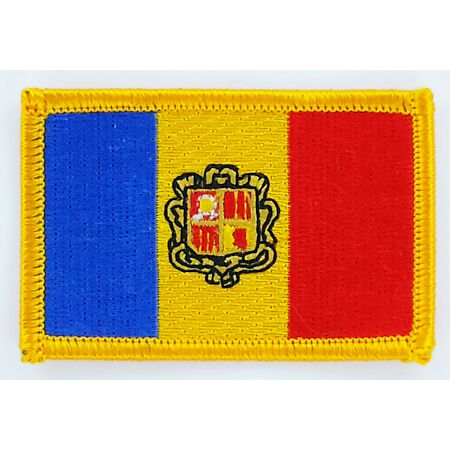 img-PATCH ECUSSON BRODE DRAPEAU ANDORRE INSIGNE THERMOCOLLANT NEUF FLAG PATCHE