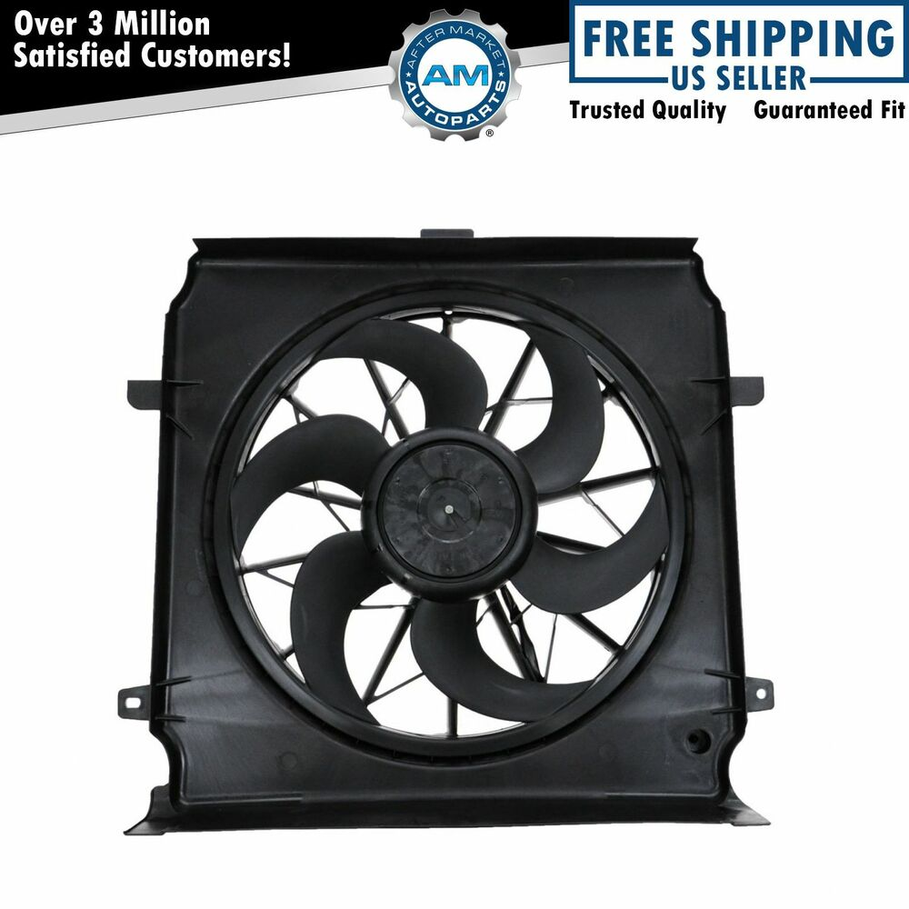 Radiator Cooling Fans : Radiator cooling fan assembly w air conditioning for