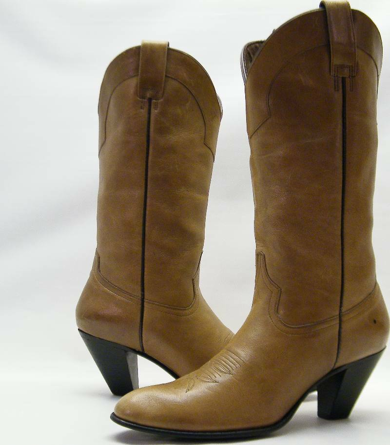 womens dan post leather high heel dress cowboy western