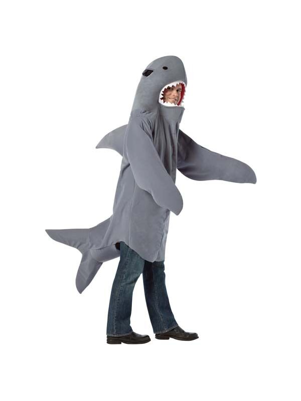 Sea world snappy shark mens fancy dress costume outfit for Fish costume men