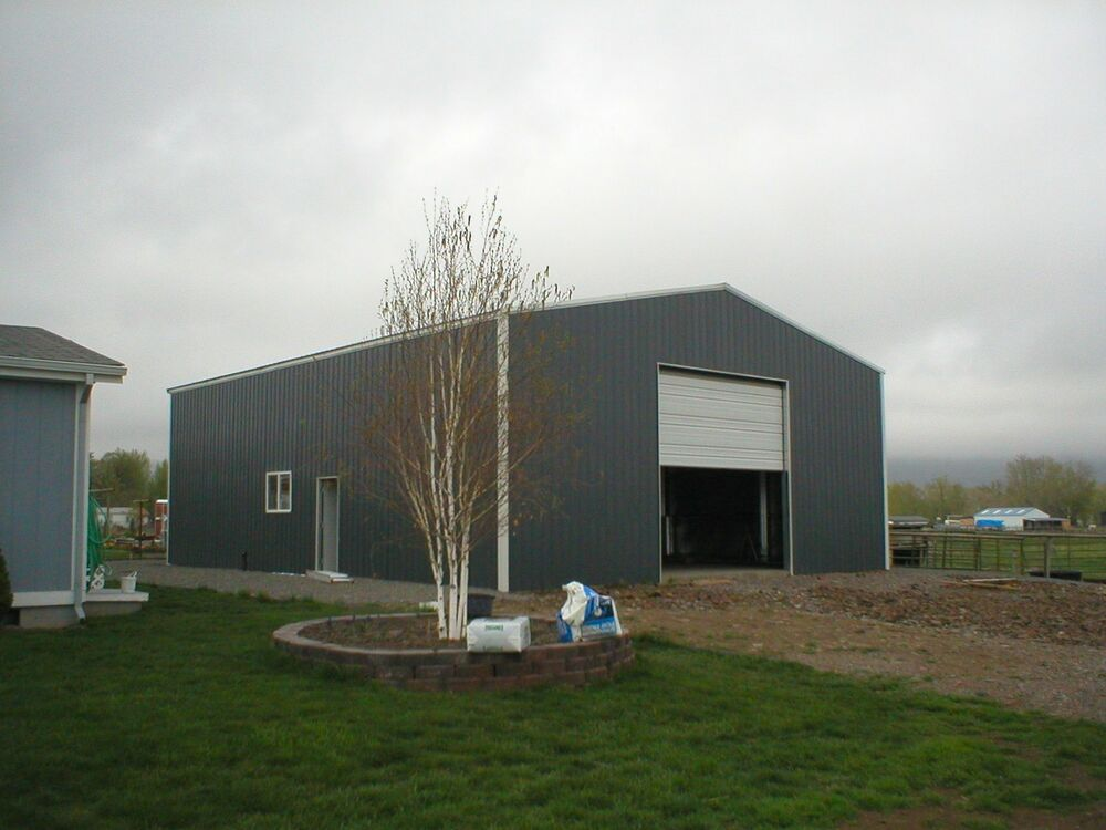 Steel metal garage building kit 1200 sq workshop barn shed for Steel barn house plans