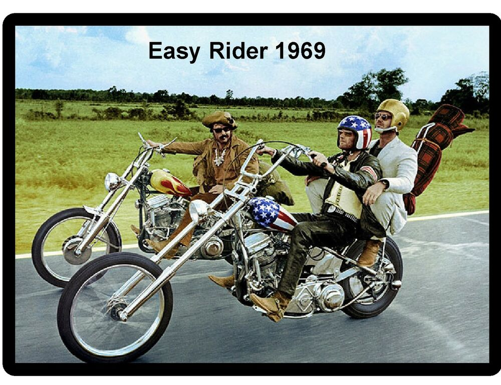 cool 1969 motorcycle movie refrigerator magnet man cave. Black Bedroom Furniture Sets. Home Design Ideas