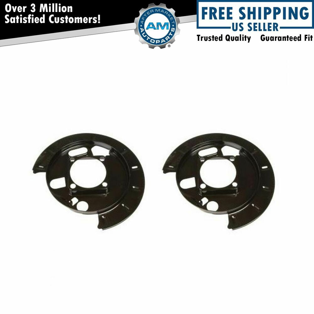 Chevy Truck Brake Backing Plate : Rear disc brake backing plate pair set for cadillac chevy