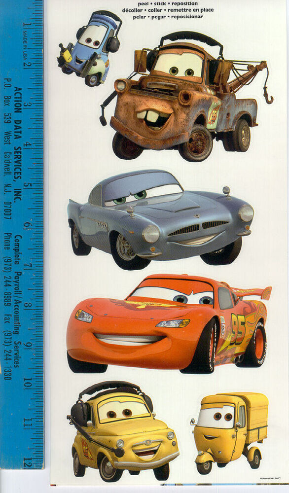 DISNEY CARS wall stickers 6 colorful decals room decor