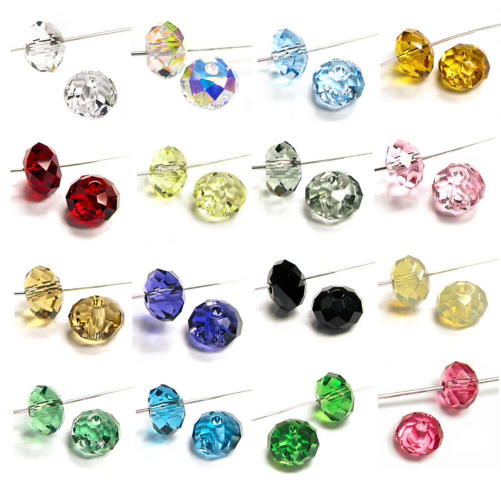 Crystal Bead Beads: Swarovski Crystal Elements 5040 Bead RONDELLE Spacer Many