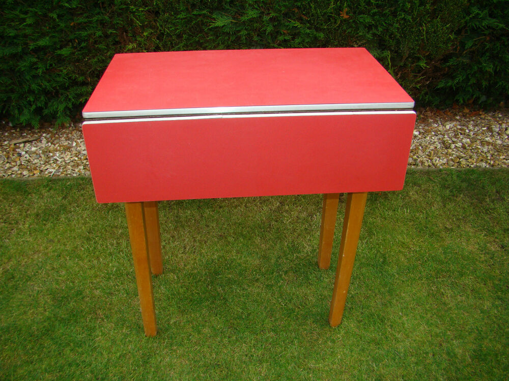 VINTAGE RETRO 1960S RED FORMICA DROP LEAF KITCHEN TABLE  : s l1000 from ebay.co.uk size 1000 x 750 jpeg 194kB