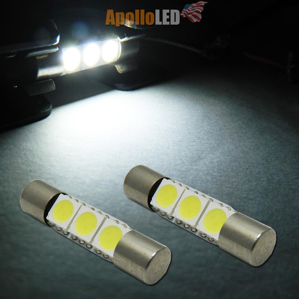 2x white 6441 led replace bulbs car vanity mirror lights sun visor lamp 22 ebay. Black Bedroom Furniture Sets. Home Design Ideas