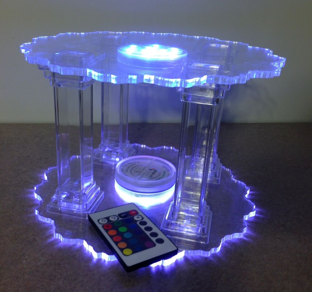 acrylic wedding cake stands with lights lighted cake stand or plates weddings birthday anniversary 10537