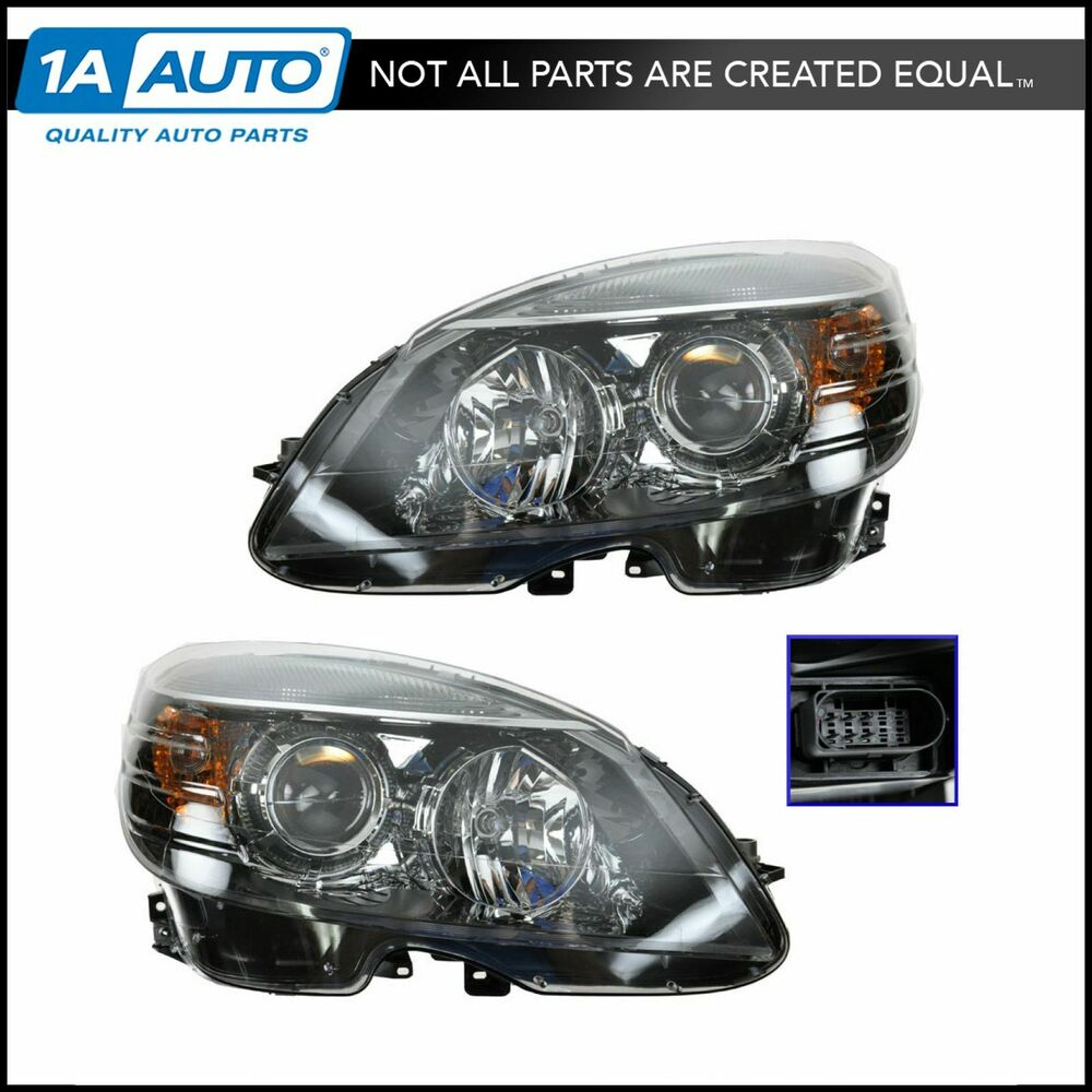 Halogen headlight headlamp lh rh pair set of 2 for for Mercedes benz spare parts price list