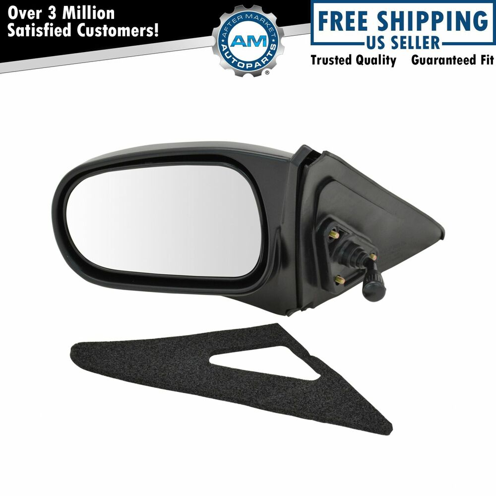 Manual Remote Side View Door Mirror Lh Left Driver Side