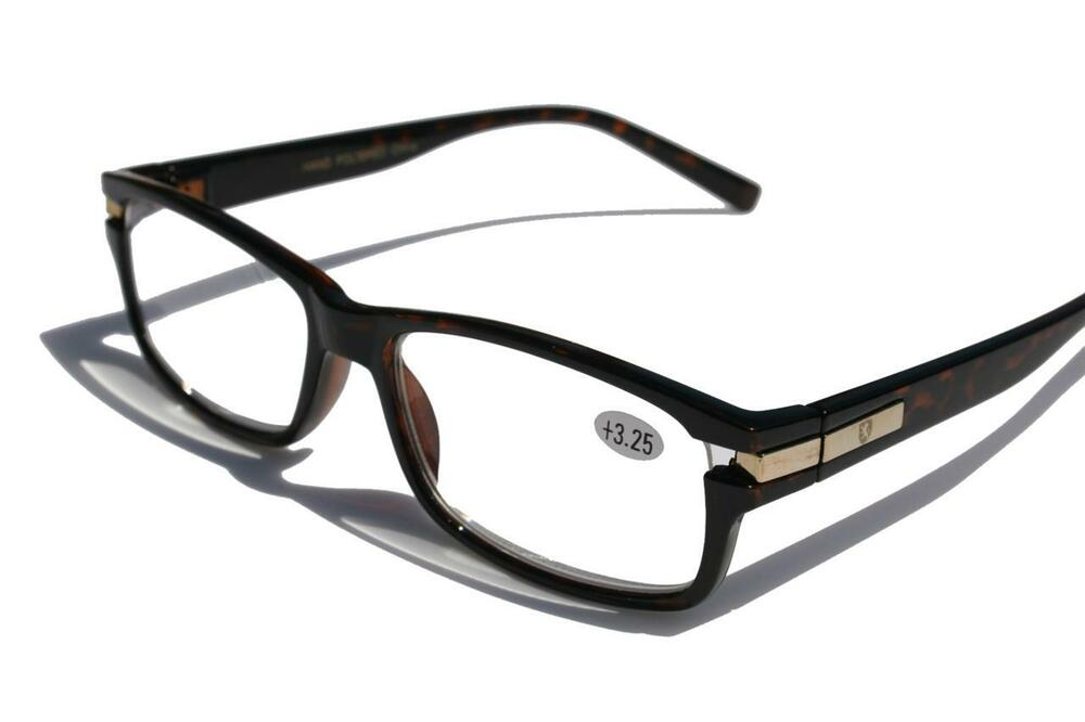 khan rectunglar plastic reading glasses reader 3 25
