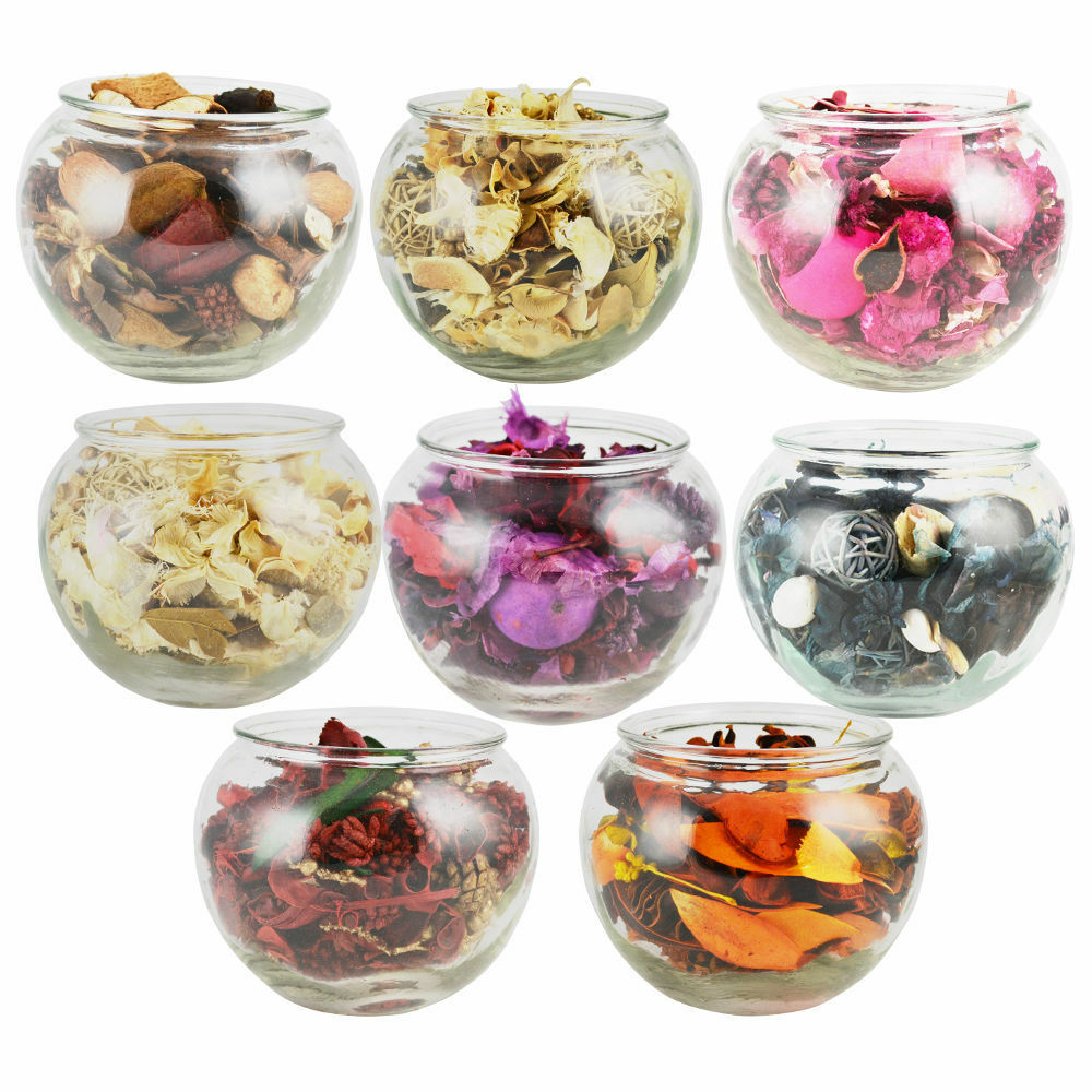 scented pot pourri filled fish bowl gift wrapped fresh fragrance aroma ebay. Black Bedroom Furniture Sets. Home Design Ideas