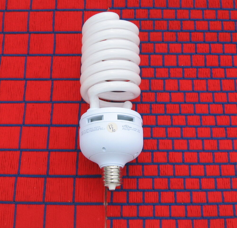 11 100 Lumen Grow Light Bulb 180w Natural 5000k Full Spectrum Spiral Cfl Mogul Ebay