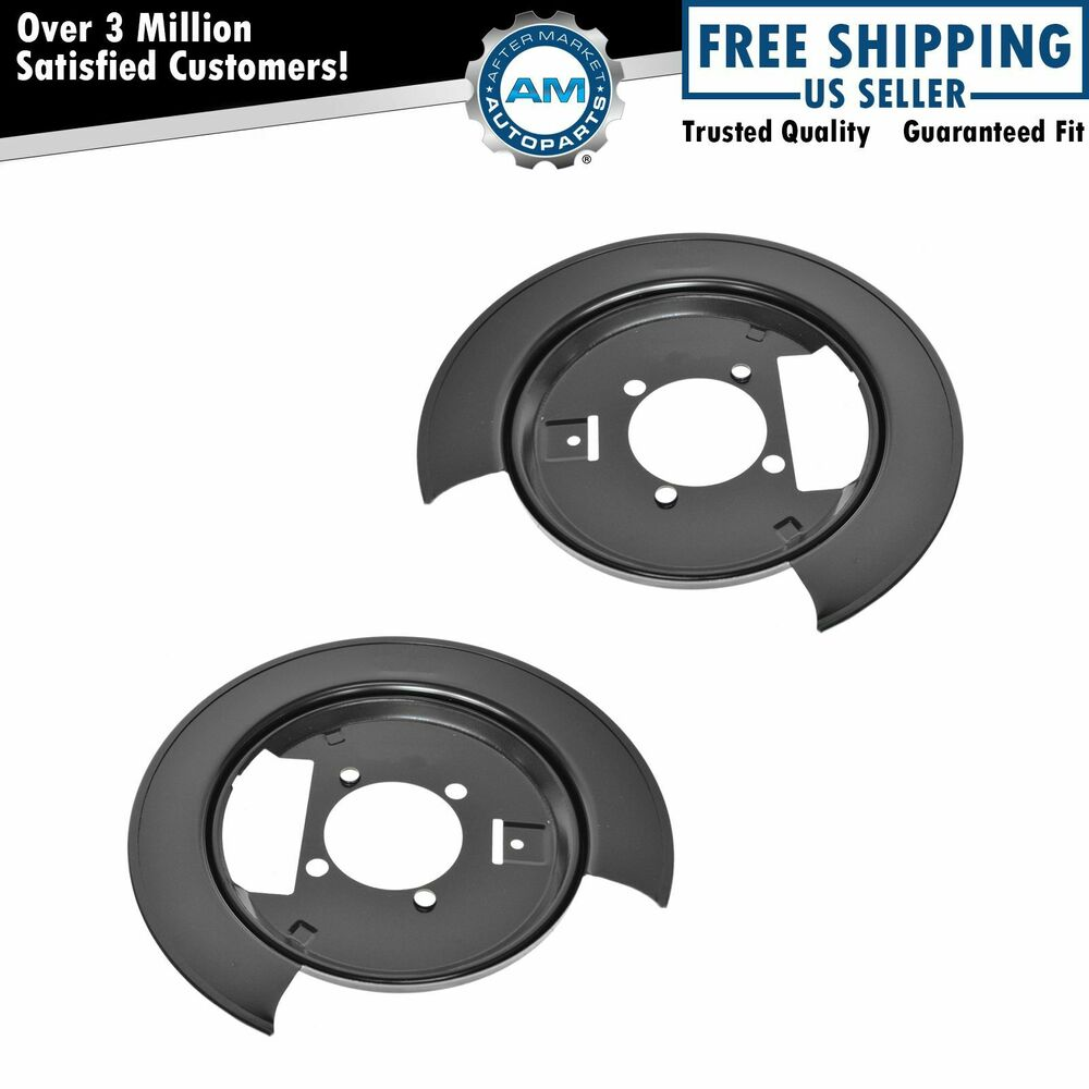 Chevy Truck Brake Backing Plate : Rear disc brakes backing plates pair set for chevy gmc