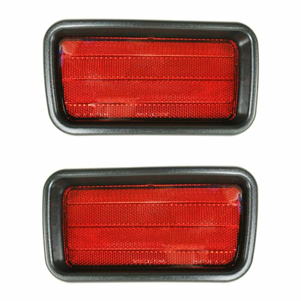 Rear Bumper Reflector Pair Set for 00-04 Mitsubishi ...