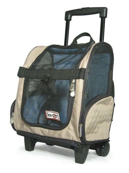 snoozer wheel roll around dog carrier car seat backpack bed 4 in 1 khaki large ebay. Black Bedroom Furniture Sets. Home Design Ideas