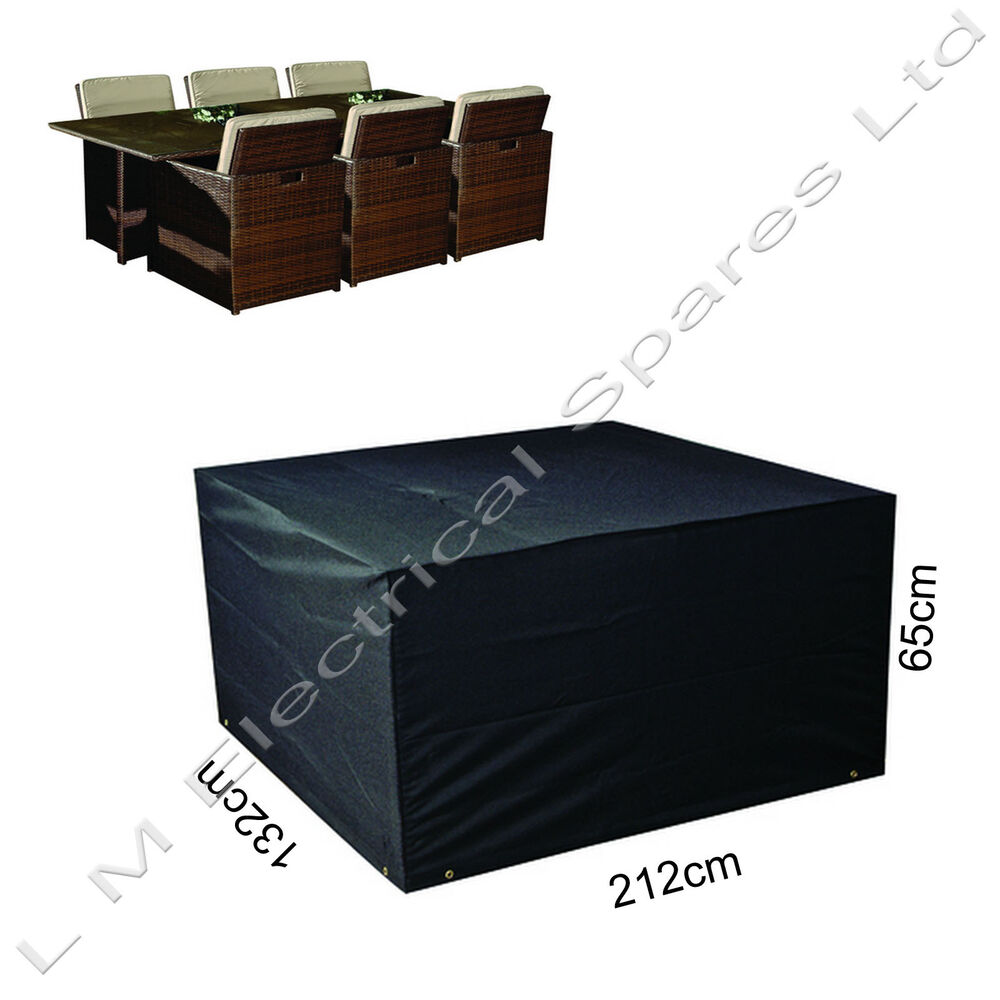 abdeckung rechteckig f r gartenm bel wasserfest st hle. Black Bedroom Furniture Sets. Home Design Ideas