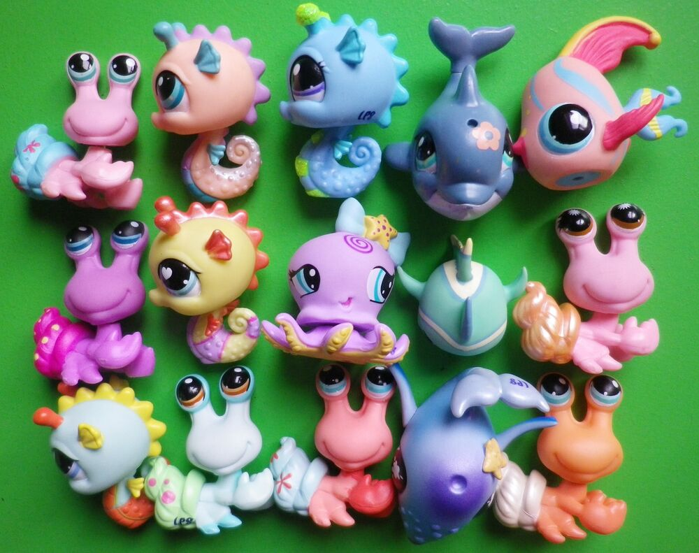 Hasbro littlest pet shop sea creatures you choose fish for Fish and pet store