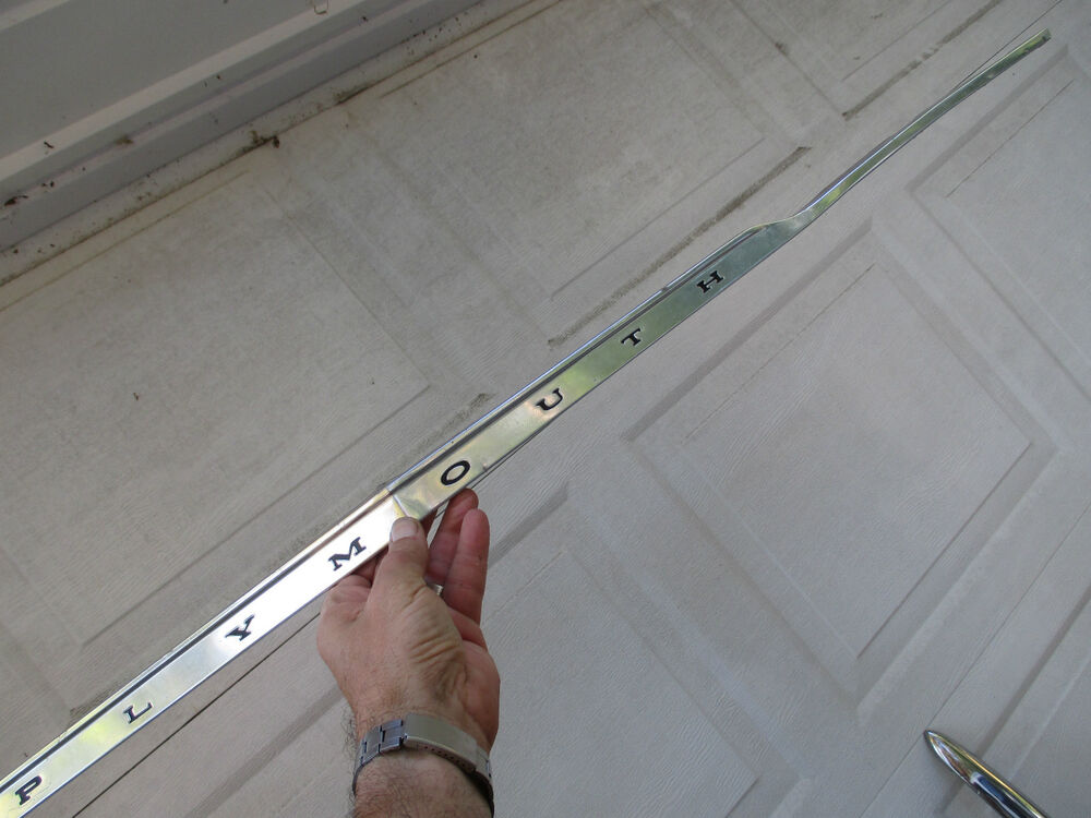 Plymouth Duster Grille Hood Trim Molding 1973 1974 1975 | eBay: www.ebay.com/itm/PLYMOUTH-DUSTER-GRILLE-HOOD-TRIM-MOLDING-1973-1974...