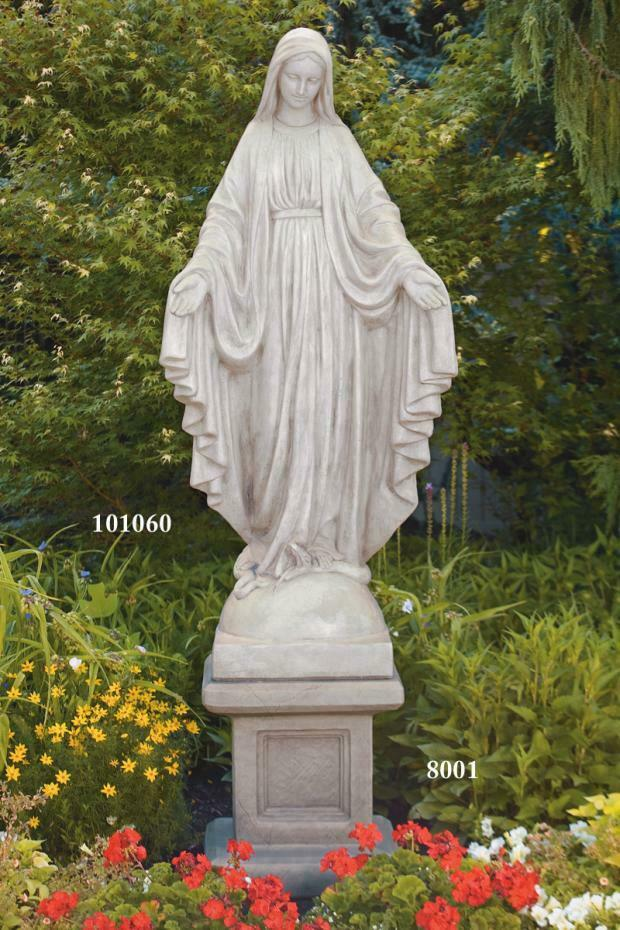 Cement 65 Blessed Mother Mary Garden Statue Outdoor Reglious Statue Ebay
