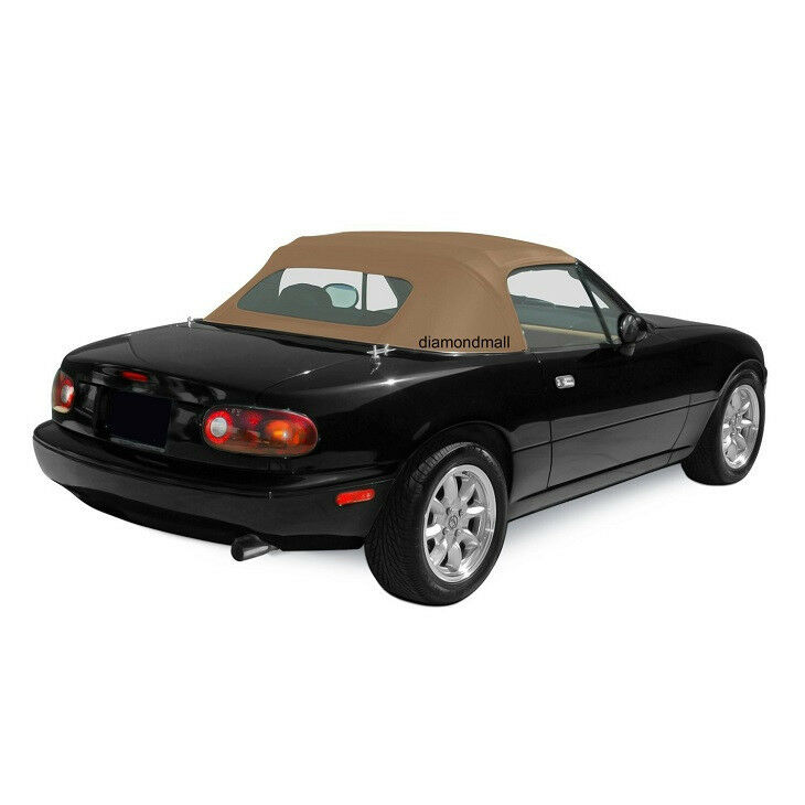 mazda miata convertible soft top non heated glass window tan cabrio 1990 2005 ebay. Black Bedroom Furniture Sets. Home Design Ideas