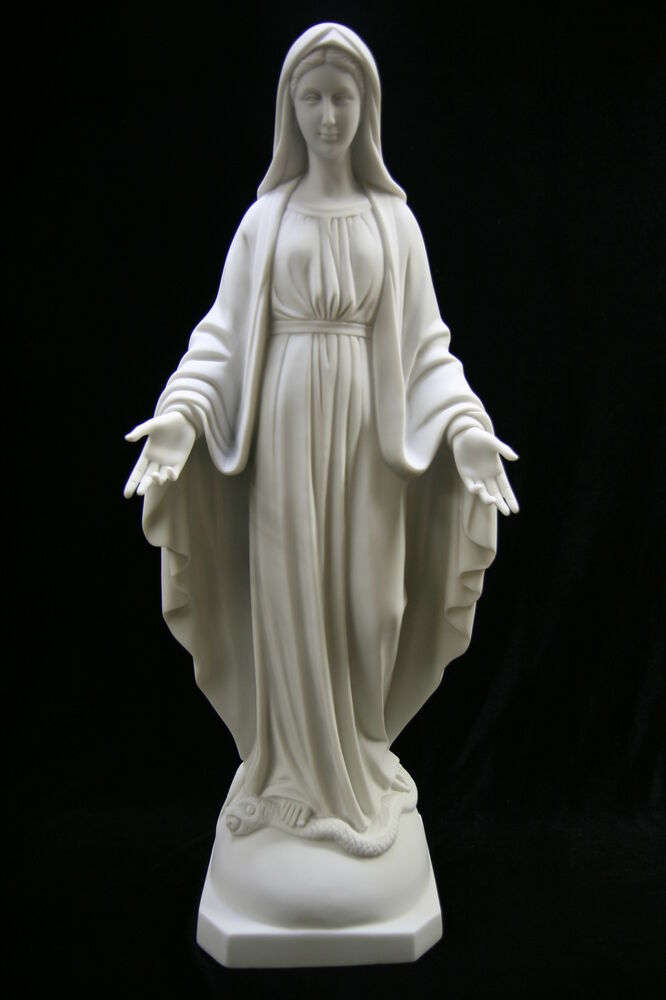 Our Lady Of Grace Virgin Mary Catholic Statue 23 5 Vittoria Made In Italy Ebay