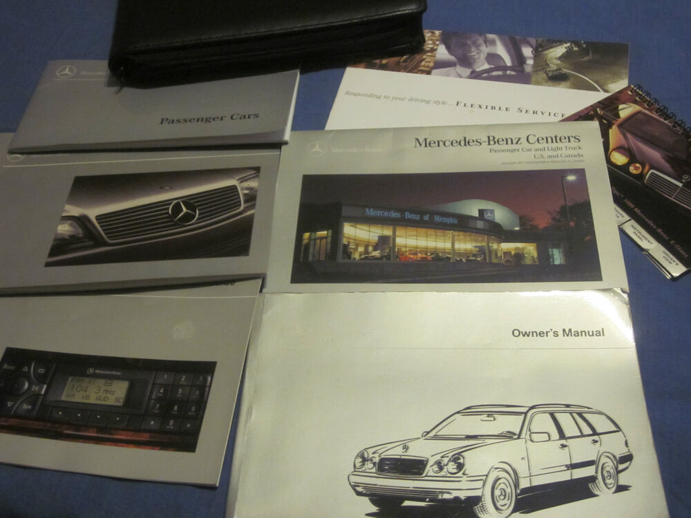 1999 mercedes e320 wagon e 320 owners manual owner 39 s set for Mercedes benz e320 service manual