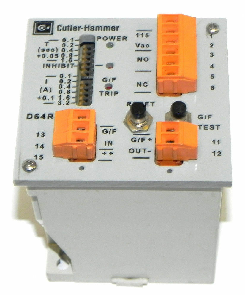 Cutler hammer d64rpb5 ground fault protection relay ser a for Motor ground fault protection