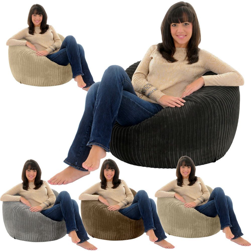 JUMBO CORD Giant Adult Beanbag Chair Big Bean Bag Lounger