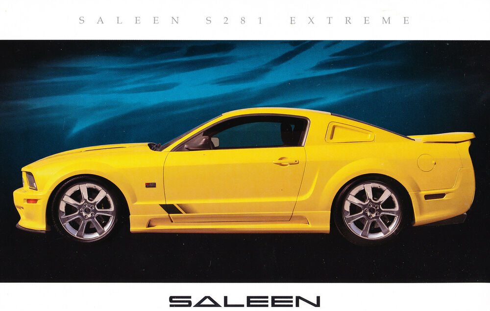 2006 2007 saleen ford mustang extreme s281 yellow sales. Black Bedroom Furniture Sets. Home Design Ideas