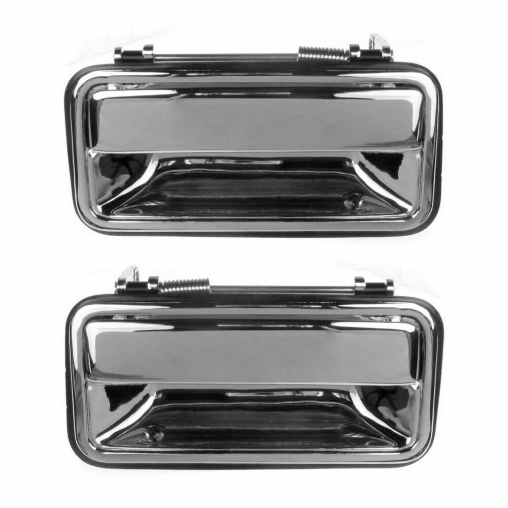 Exterior door handle rear pair outer chrome for chevy gmc for Rear exterior door