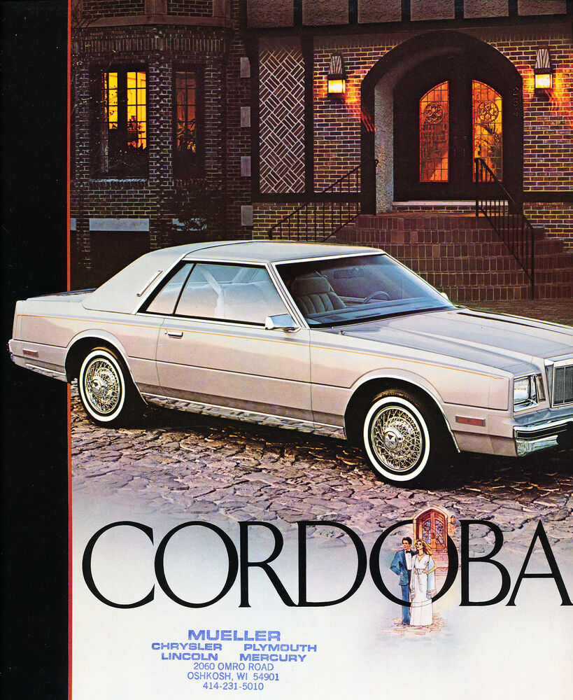 1983 Chrysler Cordoba 8-page Car Dealer Stamp Sales