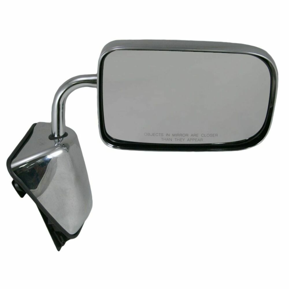 Chrome Manual Side View Mirror Rh Right For Dodge D W 100